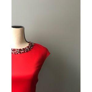 Ted Baker Embellished Elenna Red Midi Dress
